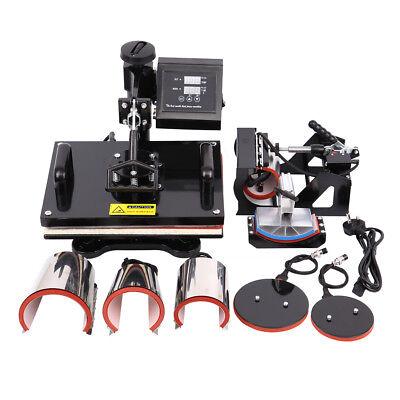 8 In1 Heat Press Machine Printing Transfer Sublimation T-shirt Digital Dashboard