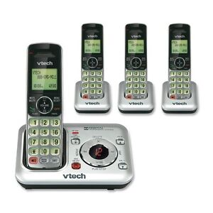 Vtech CS6429-4 DECT 6.0 Cordless Phone Handsets Home House Telephone Set System