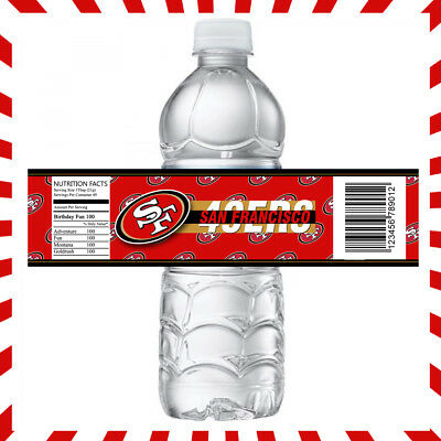 San Francisco 49ers Sports Party Bottle - 49ers Party