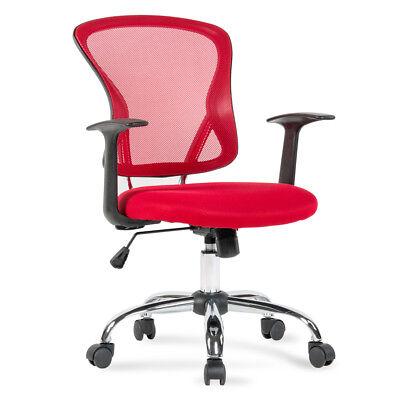 Ergonomic Mid-back Mesh Office Computer Chair Desk Task Executive Swivel Red