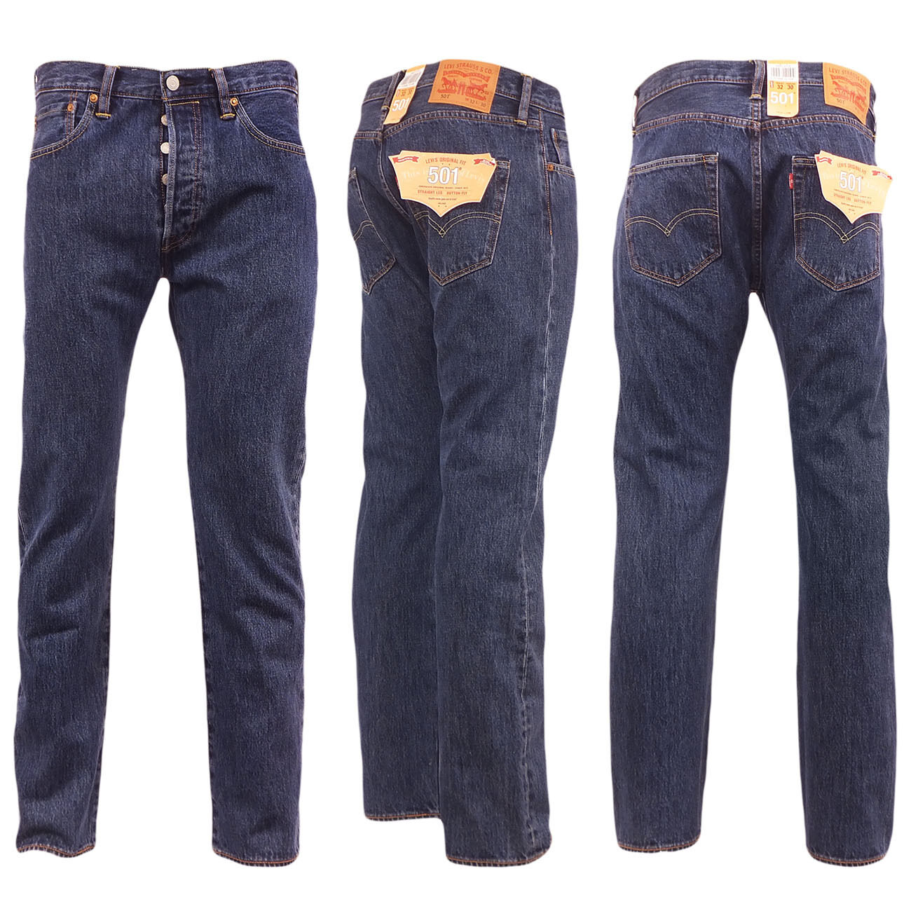 LEVIS 501 MENS Jeans Brand New Button Fly Denim Jean 28 30 ... - photo #36