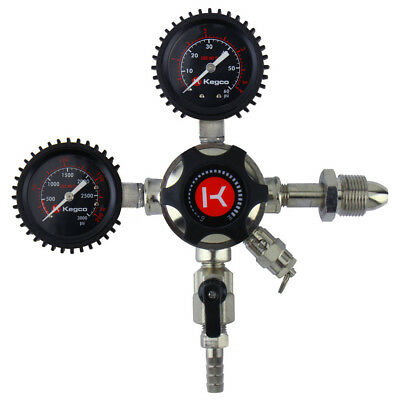 Kegco Lhu5n Elite Series Dual Gauge Nitrogen Draft Beer Regulator
