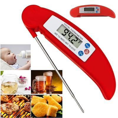 (Pro Digital Food Thermometer Probe Kitchen Cooking BBQ Meat Temperature Tool Kit)