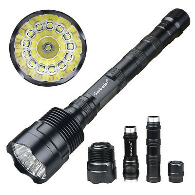 Tactical 90000Lumen 14x T6 LED 18650 Powerful Fishing Flashlight Lamp USA STOCK