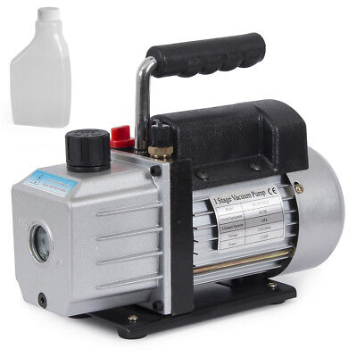 Single Stage 4cfm 13hp Rotary Vane Deep Vacuum Pump Hvac Ac Air Tool R134 R410a