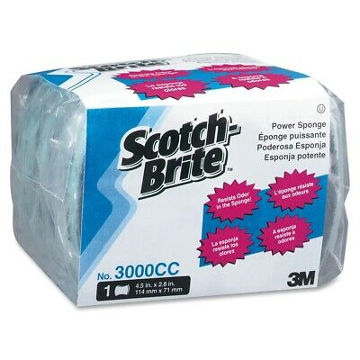 Scotch-brite Power Sponge - Cellulose, Synthetic Fiber - Blue, Dark Blue