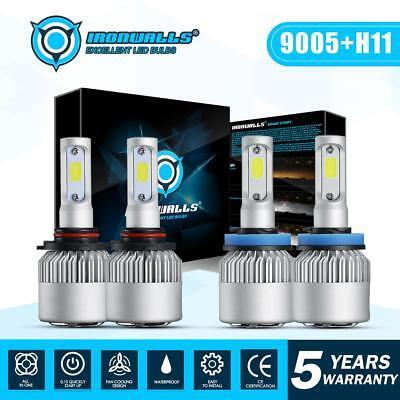 9005 + H11 Total 3400W 510000LM CREE LED Headlight Kit High Low Beam Light Bulbs