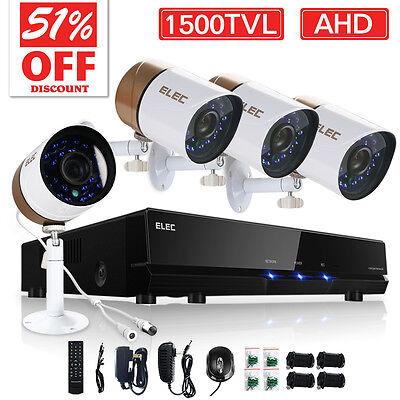 ELEC® 8CH 1080N AHD CCTV DVR IR Home Security Camera System 720P 1500TVL Wired