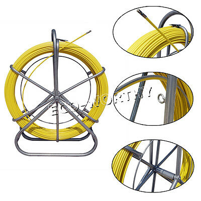 130m 6mm Hug Flight Fish Tape Fiberglass Wire Cable Rod Duct Rodder Fishtape