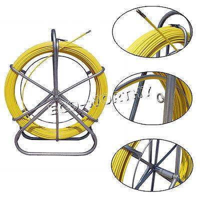 130m 6mm Hug Flight Fish Tape Fiberglass Wire Cable Rod Duct Rodder Fishtape