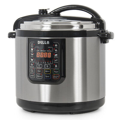 10-in-1 Programmable Pressure Instant Cooker, 10-Quart 1400-Watt, Slow Cook Pot