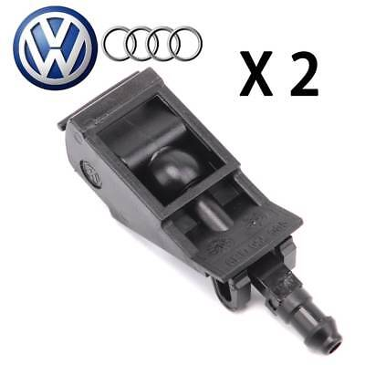 PAIR Windshield Washer Spray Nozzle For VW Golf Jetta Beetle Passat Touareg Pair Windshield Washer