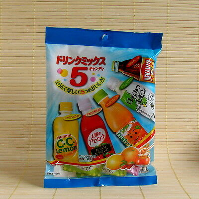 Japan Lotte VENDING DRINK MIX candy - 5 Flavor Japanese Dakara Dekavita Natchan