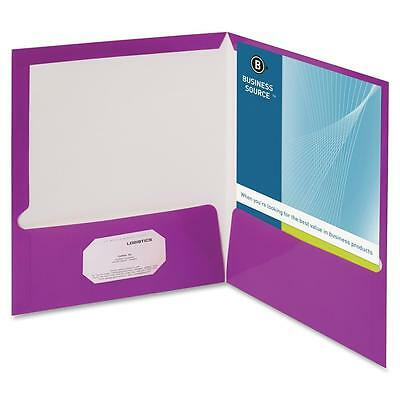 Business Source Two Pocket Folder Ltr 2-pkts 100 Shts 25bx Pe 44429