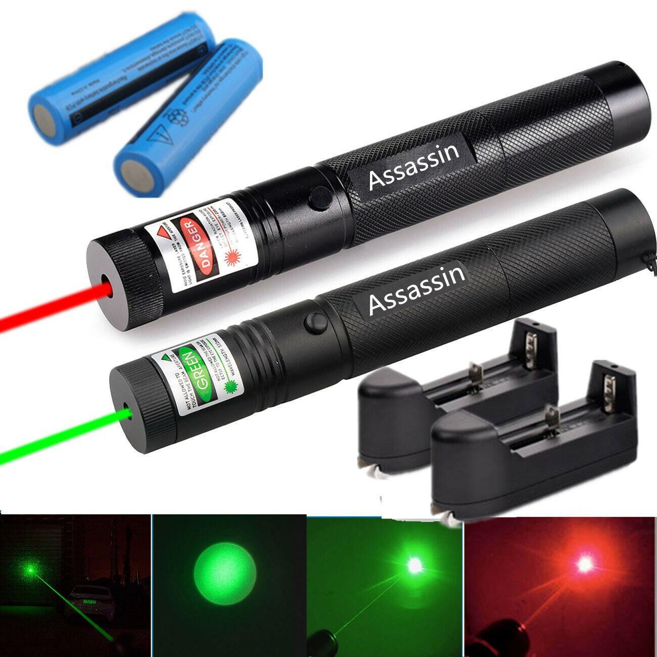 60Miles 532nm Green Laser Pointer Lazer Pen Visible Beam Light Lazer Pet Cat Toy