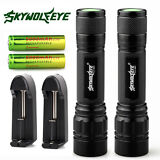 2x Tactical Police 10000LM CREE XML T6 LED Flashlight Torch +Battery +Charger US
