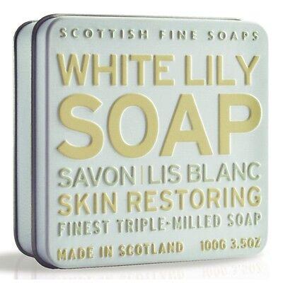 Scottish Fine Soaps Restoring White Lily Soap In A Tin 100G 3 5Oz