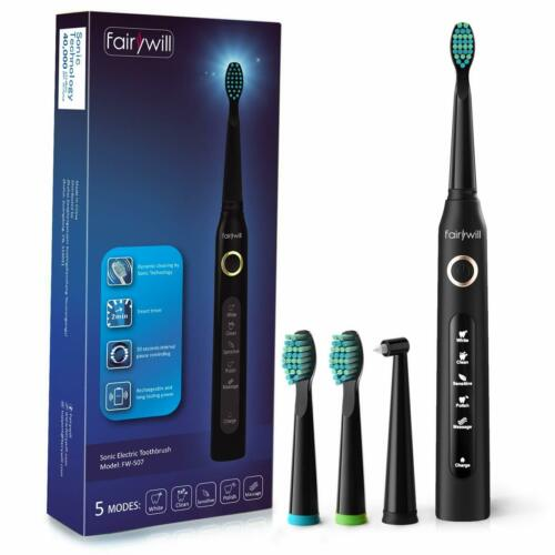 Fairywill Sonic Electric Toothbrush Kids Black Rechargeable