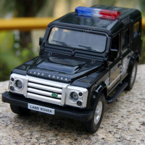"Land Rover Defender 5.3"" Alloy Diecast Model Cars Police"