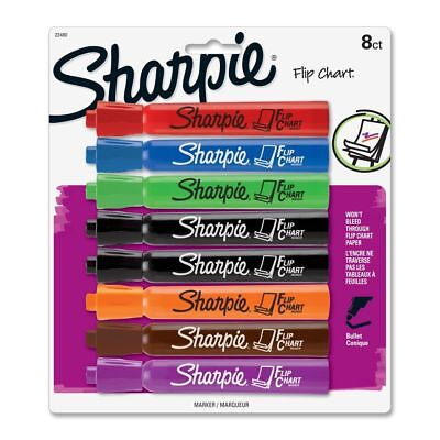 Sharpie Flip Chart Waterbased Marker - Bullet Marker Point Style - Assorted Ink