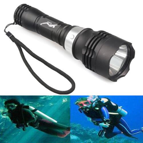 Activities 50M Scuba Diving Flashlight Headlamp 20000LM T6 LED Waterproof Light