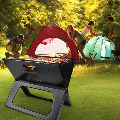 Compact Portable Grill (Portable Barbecue BBQ Grill Compact Charcoal Bars Smoker Outdoor Camping)