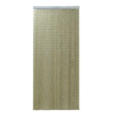 GRAY Beige Handmade Polyethylene Tubes Steel Hooks Gateways Door Curtain ](Door Plastic Curtains)