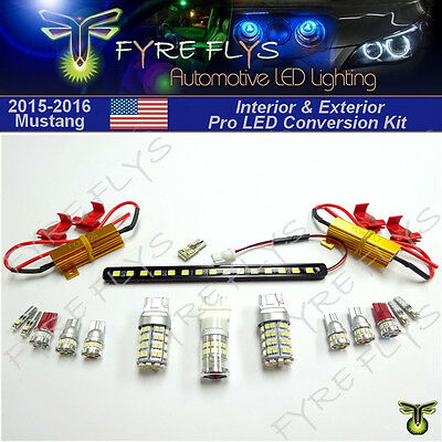 LED Interior Exterior Conversion Upgrade package for 2015 2016 2017 Ford Mustang - Gloves With Led Lights
