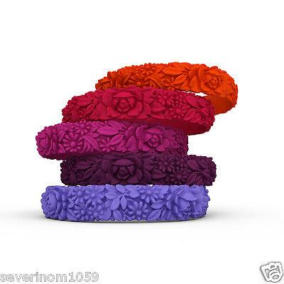Bracciale FLOWER silicone Fullspot o'clock colorati bracciali fiori Slim piccolo