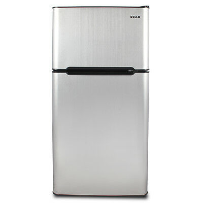 ثلاجة صغيرة جديد Stainless Steel Refrigerator Small Freezer Cooler Fridge Compact 4.5 cu ft. Unit