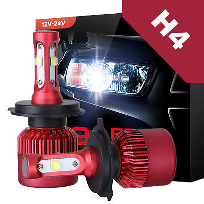 H4 9003 HB2 CREE LED Headlight Conversion Kit 252W 25200LM Lamp Bulb Hi/Lo 6000K