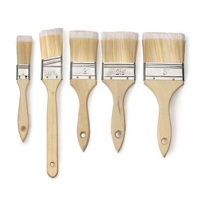Paint Brush   5 Pc Assort Pack Straight Wood Handle Soft Bristles Tip - Paint Brush Assortment