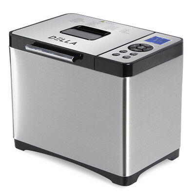 Stainless Steel 2LB 650W Electric Bread Maker Machine Programmable Home Kitchen