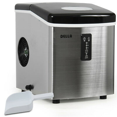 Electric Ice Maker Portable (3) Cube Size Countertop up to 35lbs Stainless Steel
