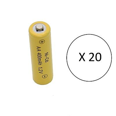 20 - Solar path light batteries AA Ni-Cd 400mAh 1.2v - Brand New Battery