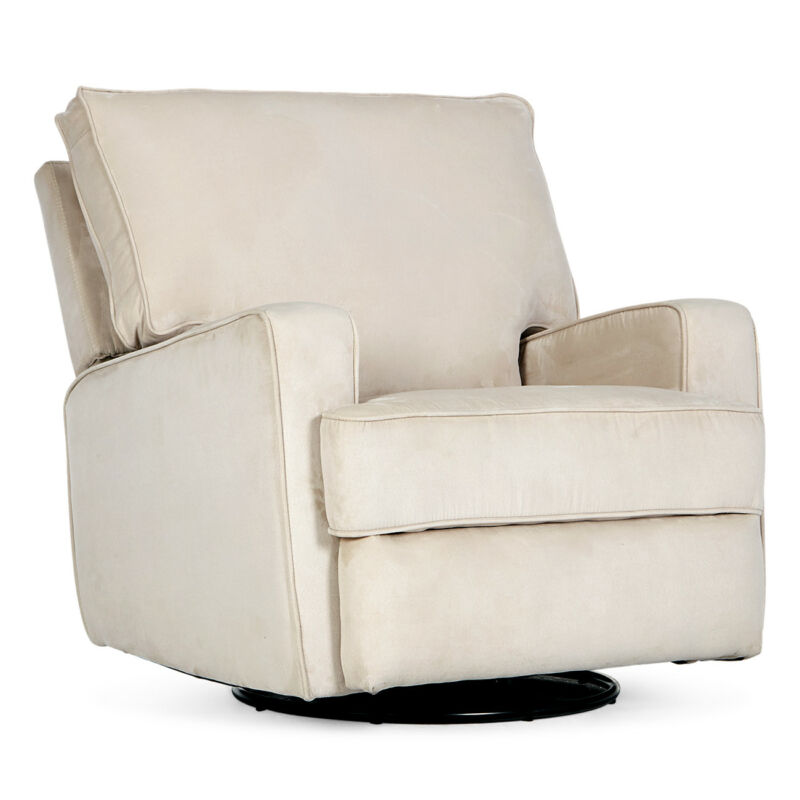 Recliner Sofa Swivel Chair Linen Ergonomic Padded Seat Lounge Living Room, Beige