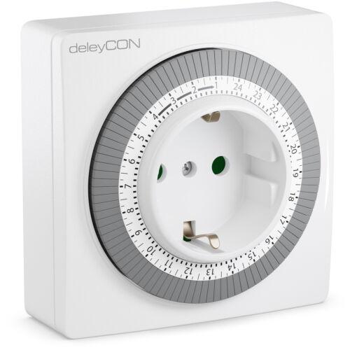 deleyCON Mechanische Zeitschaltuhr Zeitschalter Schaltuhr Timer Uhr Steckdose