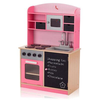 Kinderküche Spielküche Holz Kinderspielküche Holzküche Spielzeugküche mit Tafel