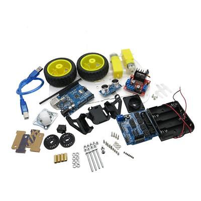 Smart Car Robot Tracking Motor Car Chassis Kit 2wd Ultrasonic For Arduino Mcu