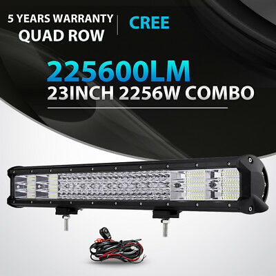 "QUAD ROW 23INCH 2256W LED LIGHT BAR SPOT FLOOD OFFROAD 4X4WD TRUCK SUV 22"" 20"""