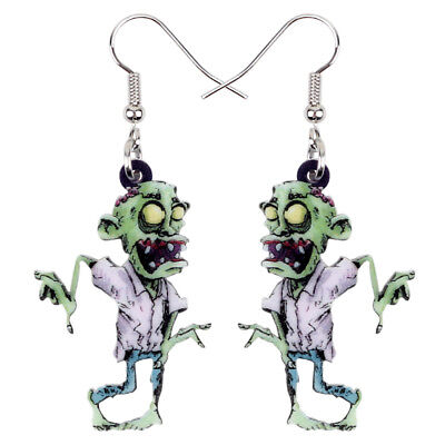 Acrylic Halloween Scary Zombie Earrings Drop Dangle Jewelry For Women Girls Kids](Scary Zombie Girl)