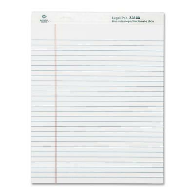 Business Source Legal Pads Legal Ruled 50 Sht 8-12x11-34 12pack We 63108