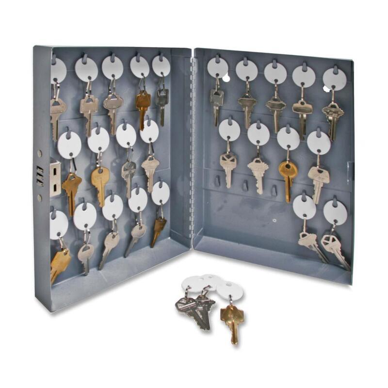 "Sparco Key Cabinet Combination Lock 10""x3""x12"" 28 Keys Gray 15600"