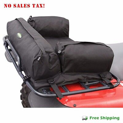 Atv Rack Bag - ATV Rear Deluxe Padded Racks Bag Pack MOSSY Black Secure Storage Cargo Back New