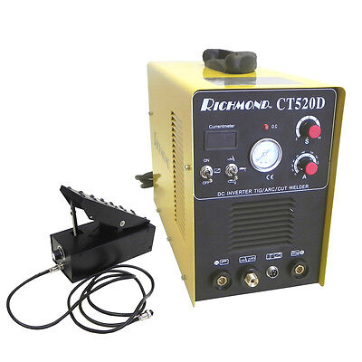 3-in-1 Ct520d 200a Tig Stick Welder 50a Plasma Cutter 110v240v With Foot Pedal
