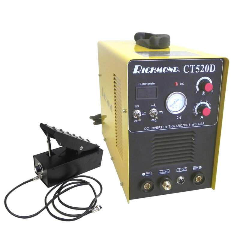 3-in-1 CT520D 200A TIG STICK WELDER 50A PLASMA CUTTER 110V/240V WITH  FOOT PEDAL