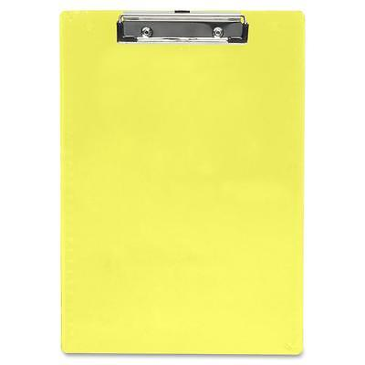 Saunders Plastic Clipboard Letter Holds 12 Of Paper Neon Yellow 21595