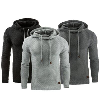 New Men's Winter Slim Warm Hooded Sweatshirts Hoodies Coat Jacket Jumper Outwear