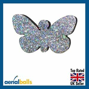 Silver-Glitter-Butterfly-Car-Aerial-Antenna-Ball-Topper