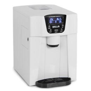 Freestanding Water Dispenser Built-In Ice Maker Machine, 2-Size Ice Cube -White